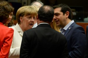 Merkel-Hollande-Tsipras 12-07-15 Brussels